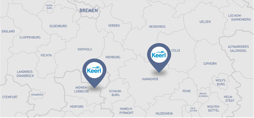 Liefergebiet Keerl GmbH